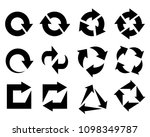 recycled element graphic icons... | Shutterstock .eps vector #1098349787