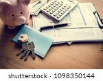 flat lay of real estate concept | Shutterstock . vector #1098350144