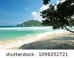 beautiful sand in palm beach  ... | Shutterstock . vector #1098352721