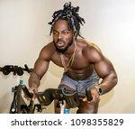 handsome  young  muscular... | Shutterstock . vector #1098355829