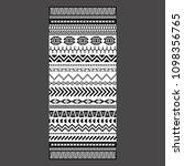 black and white tribal... | Shutterstock .eps vector #1098356765