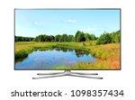 smart tv with nature wallpaper | Shutterstock . vector #1098357434