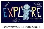 explore slogan  space  vector... | Shutterstock .eps vector #1098363071
