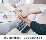 close up business man hands in... | Shutterstock . vector #1098364685