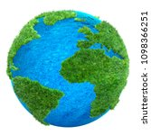 green grass earth 3d... | Shutterstock . vector #1098366251
