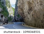 road in mountains. bicaz canyon ...   Shutterstock . vector #1098368531