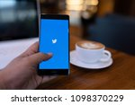 Small photo of CHIANG MAI, THAILAND - May 19,2018: : Man hand holding HUAWEI with Twitter app on the screen.Twitter is an online news and social networking service where users post and interact with messages.