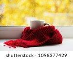 autumn still life   warm... | Shutterstock . vector #1098377429
