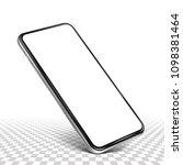 smartphone frame less blank... | Shutterstock .eps vector #1098381464