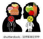 dietary advice from doctors....   Shutterstock . vector #1098381599