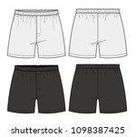 pants boxer shorts fashion... | Shutterstock .eps vector #1098387425