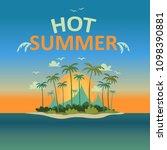vector hot summer holiday... | Shutterstock .eps vector #1098390881
