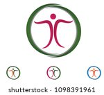 success people care logo and... | Shutterstock .eps vector #1098391961