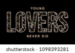 shiny slogan graphic | Shutterstock . vector #1098393281