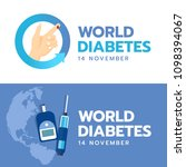 world diabetes day banner with... | Shutterstock .eps vector #1098394067