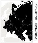 eastern europe map black color. ... | Shutterstock .eps vector #1098394619