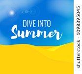flat summer vector landscape....   Shutterstock .eps vector #1098395045