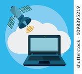data center technology | Shutterstock .eps vector #1098395219