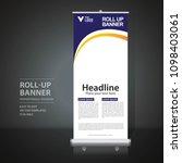 roll up banner design template  ... | Shutterstock .eps vector #1098403061