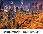 dubai sunrise panoramic view of ...   Shutterstock . vector #1098406634