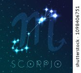 scorpio zodiac sign. vector...   Shutterstock .eps vector #1098406751