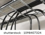 cables on the cable tray. | Shutterstock . vector #1098407324