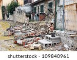 Wall Dilapidated House With A...