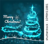 christmas tree for invitations... | Shutterstock .eps vector #1098411881