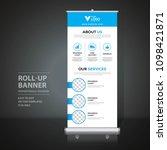 roll up banner design template  ... | Shutterstock .eps vector #1098421871
