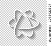 scientific atom symbol  logo ... | Shutterstock .eps vector #1098423929