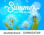 summer enjoy your holidays... | Shutterstock .eps vector #1098424769