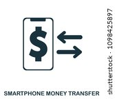 smartphone money transfer icon. ...