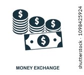 money exchange icon. flat style ...