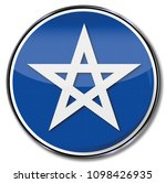 symbol with a five pointed star | Shutterstock . vector #1098426935