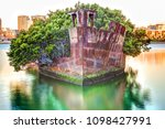 historic shipwreck in homebush... | Shutterstock . vector #1098427991