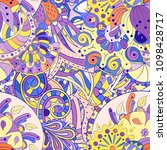 tracery seamless pattern.... | Shutterstock .eps vector #1098428717