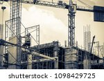 engineer consultant inspecting... | Shutterstock . vector #1098429725