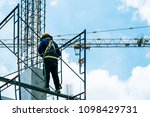 engineer consultant inspecting... | Shutterstock . vector #1098429731