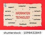 information technology writen... | Shutterstock . vector #1098432845
