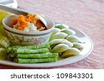 Thai Food style with vegetable - stock photo