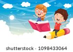 vector illustration of school... | Shutterstock .eps vector #1098433064