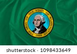 flag of washington background ... | Shutterstock . vector #1098433649