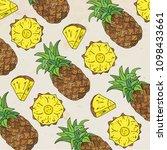pattern of sweet juicy... | Shutterstock .eps vector #1098433661