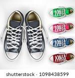 3d realistic vector mesh pair...   Shutterstock .eps vector #1098438599