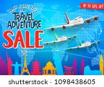 creative travel adventure sale... | Shutterstock .eps vector #1098438605