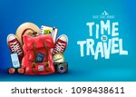 3d realistic time to travel... | Shutterstock .eps vector #1098438611