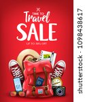 travel vacation sale poster for ... | Shutterstock .eps vector #1098438617