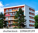 new simple apartment house with ... | Shutterstock . vector #1098439199