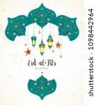 vector eid al fitr mubarak card.... | Shutterstock .eps vector #1098442964
