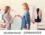 here you go. happy pleased... | Shutterstock . vector #1098444359